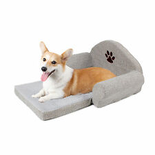 Pet Dog Cotton Linen Sofa Beds Puppy Dog Cat Small Animals Cushion Kennel Bed