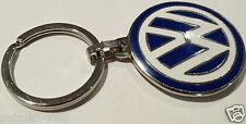 Volkswagen VW Logo Blue & White Enamel Keyring Genuine VW 000087010C Key Fobs