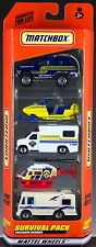 Matchbox Survival Pack 5 Pack Gift Set 1999 NEW in Box Exclusive Designs