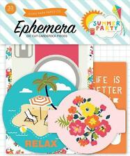 Echo Park Paper SUMMER PARTY Ephemera Die Cuts 33pc Beach Sand Planner Scrapbook