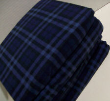 Cuddl Duds Heavyweight Cotton Navy Blue Buffalo Check Flannel Queen Sheet Set