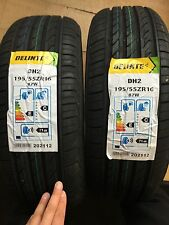 DELINTE 195 55 ZR16 87W NEW PAIR OF TYRES 195/55R16 87W AMAZING TYRE