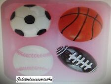 Calcio Baseball Basket Football Americano Topper Per Torta Cioccolato Glassa