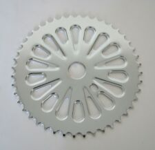 BICYCLE CHAINRING FREESTYLE CHROME 44T BMX BEACH CRUISER LOWRIDER MTB COMFORT