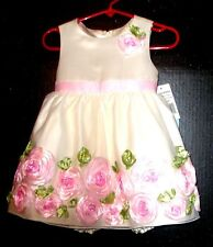 American princess gorgeous ivory pink roses flower girl Easter spec. occas. 24MO