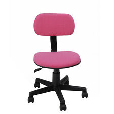 Pink Adjustable Swivel Chair Office Computer Desk Task Girl Kid Study Child Gift