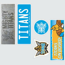 NRL Gold Coast Titans Set of 5 UV iTag Bumper Decals