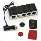 4 Way Multi Socket Auto Car Cigarette Lighter Splitter USB Plug Adapter Charger