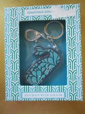 NEW Jonathan Adler Keychain with 4GB USB File Storage Whale Blue Gift Box