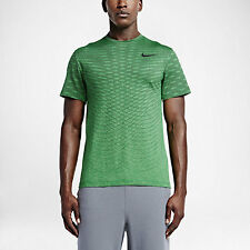 Nike Ultimate Dry Men's Training Shirt SZ S Small Spring Leaf 742496 342 Running