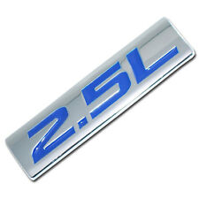 CHROME/BLUE METAL 2.5L ENGINE RACE MOTOR SWAP EMBLEM BADGE FOR TRUNK HOOD DOOR