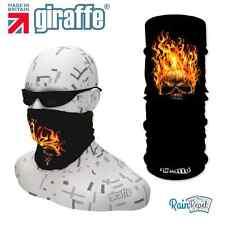 G286 Flame skull biker Headwear Neckwarmer multifunctional Bandana Headband
