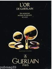 Publicité Advertising 1991 Cosmétique maquillage Guerlain