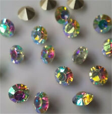 50pcs 6mm AB High quality Crystal beads Point back Rhinestones Resin Chatons