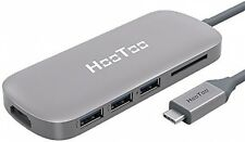 USB C Hub, HooToo Shuttle 3.1 Type C USB Hub with Power Delivery for Charging,