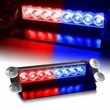 8 LED Red Blue Emergency Vehicle Lights Bar Signal Car Truck Flash Strobe Dash