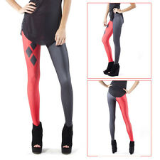 New Sexy Women Stretch Harley Quinn Skinny Elastic Leggings Tight Pencil Pants