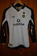 MANCHESTER UNITED ENGLAND 2001/2002 AWAY/THIRD FOOTBALL SHIRT UMBRO LONG SLEEVES
