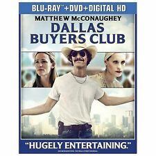 Dallas Buyers Club NEW Bluray & DVD disc/case/cover-no digital/slip- McConaughey