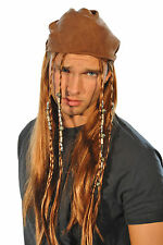 Halloween Carribean Pirate Jack Sparrow bandana Perruque Costume Robe fantaisie homme