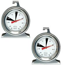 2 X BRANNAN DIAL STAINLESS STEEL CATERING TRADE HOME FRIDGE FREEZER THERMOMETER