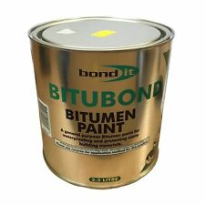 2.5 Litre Bond it Bitubond Black Bitumen waterproofing paint all weather coating