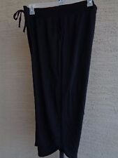 New Just My Size Cotton Blend French Terry Jersey Knit  Pull On  Capris 3X Black