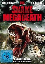 SNAKE MEGADEATH (DVD, HORRORFILM, 2013, WES BROWN, DMX, LISA ARNOLD)