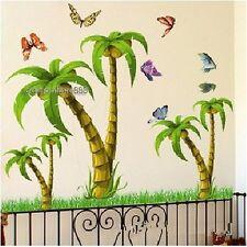 Il cocco Tropicale Palma Tree Adesivi Da Parete Bambini Vivaio Camera Da Letto Vinile Art Decalcomanie