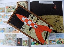 Rocket - Vintage Shabby Chic Chess Pieces in a Decoupaged TinTIn Wooden Box