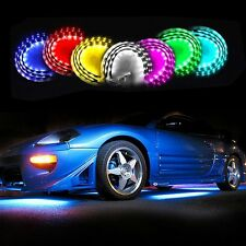 Zone Tech 7 Color LED Under Car Glow Underbody System Neon Lights Kit Strips