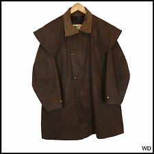 VINTAGE Barbour W.K Backhouse Brown Cappotto Giacca Medio 40 102cm
