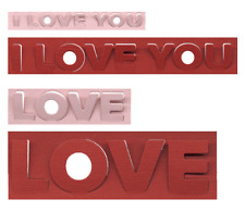 Lifestyle Crafts/Quickutz - 4 Love pop-up dies - for use in most cutting systems