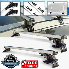 """2x 47""""Fit Nissan Versa Car Top Luggage Cross Bar Roof Rack Carrier+3 Kind Clamp"""