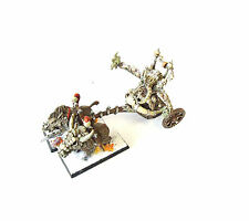 WARHAMMER FANTASY ARMY BEASTMEN BEASTLORD ON  CHARIOT  PAINTED AND BASED
