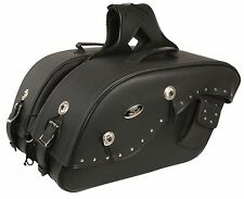 Medium Throw Over Waterproof Saddle Bag for Harley, Honda Series Bikes w/ Studs