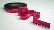 "12mm Earth Silk Bias Cut Hand Dyed Ribbon 1/2"" blend 026 red magenta orange"