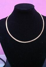 OMEGA STAINLESS STEEL NECKLACE GOLD 4MM WIDE 18 INCH LONG