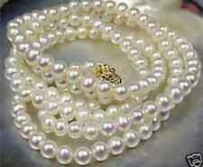 "HOT Beautiful!7-8mm White Akoya Cultured Pearl Necklace 25""+AH"