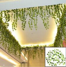 2.5m Décor Maison Vert Plante Ivy Feuille Fausse Fleur Plastique Guirlande Vigne