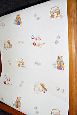 Bunnies, Blocks and Cats on Off-White Wallpaper  W1106