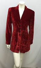 VINTAGE KENZO JUNGLE JACKET RED WINE FLORAL VELVET VERY CHIC SIZE 38