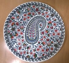 French Faience GIEN CACHEMIRE Cake Plate