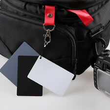 3in1 Digital 18% Gray/White/Black Card Set Photography Exposure Balance w/ Strap