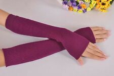 Sales Arm Warmer Long Winter Half Fingerless Gloves Sleevelets Ladies Mittens