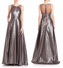 BADGLEY MISCHKA Textured Metallic Ball Gown sz 4 $990 from SAKS FIFTH AVENUE