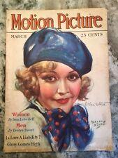 Original March 1930 Motion Picture Magazine Alice White On Cover