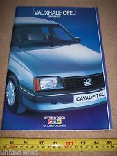 Gama de coche Opel Opel revista 1984 Folleto Catálogo Astra GTE Etc Oct-Dec