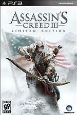 Assassins Creed III 3 Limited Edition Bundle Statue Flag Playstation 3 PS3 - NEW