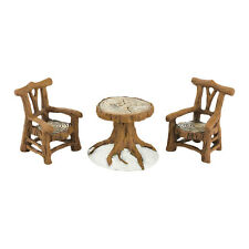Dept 56 Woodland Table & Chairs 4033838 NEW D56 Christmas Village Accessory 2013